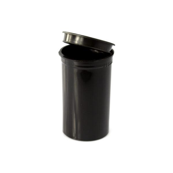 Two Gram - 19 dram - Poptop container black