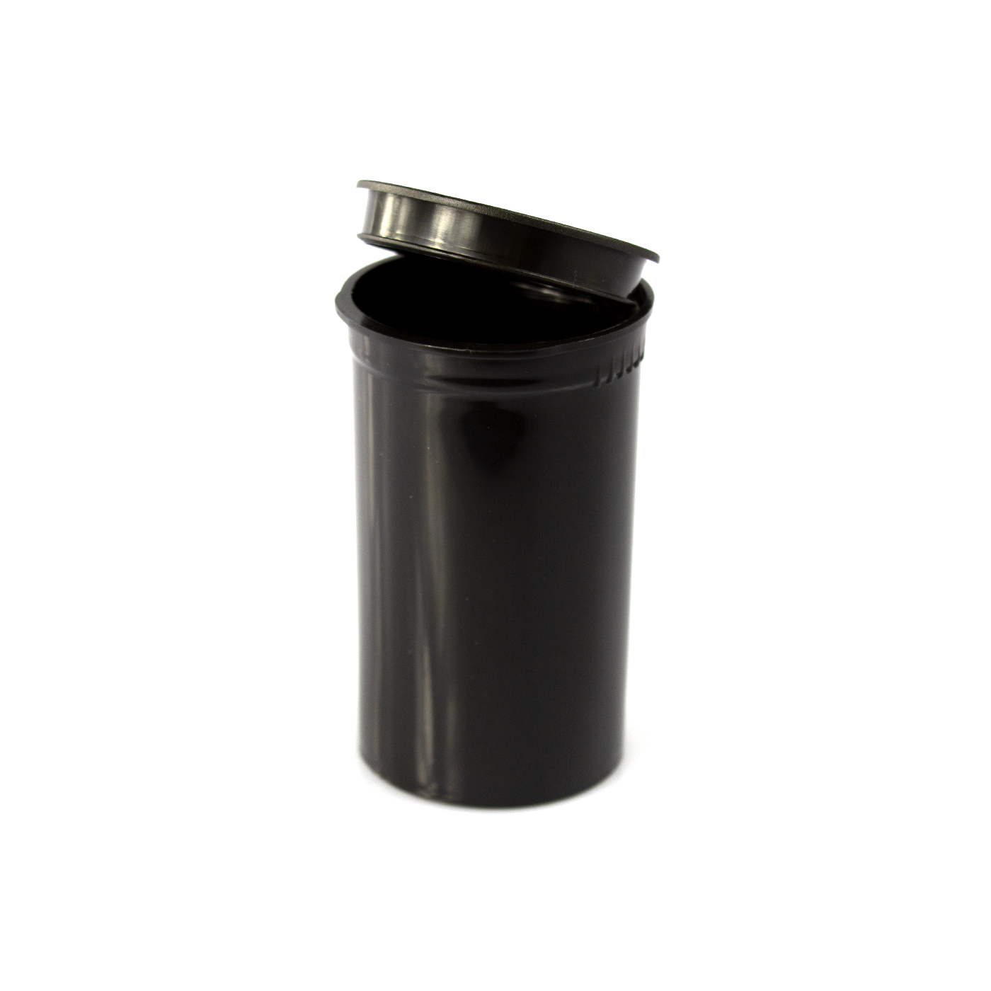 Two Gram - 19 dram - Poptop container black