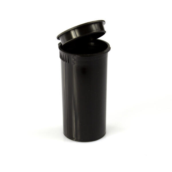 One Gram - 13 dram - Poptop container black