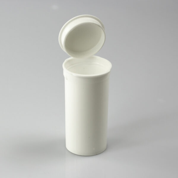 One Gram - 13 dram - Poptop container white