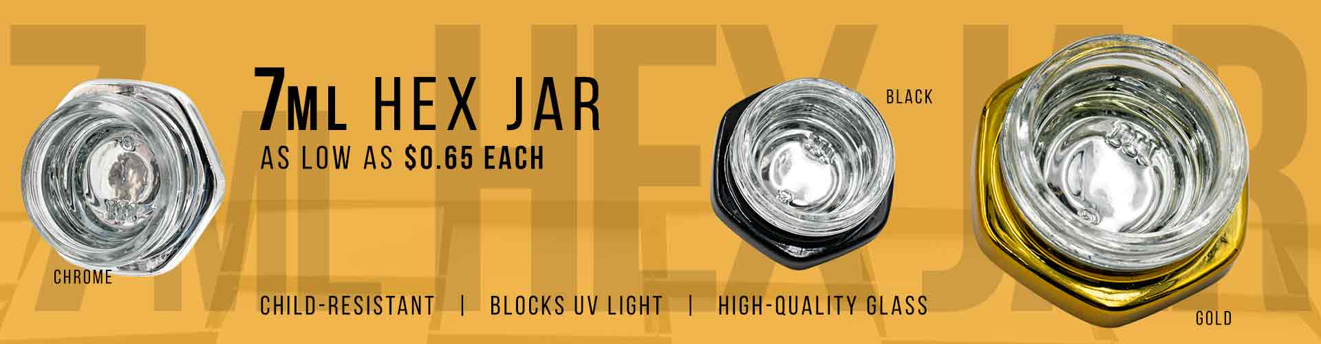 hex concentrate jars
