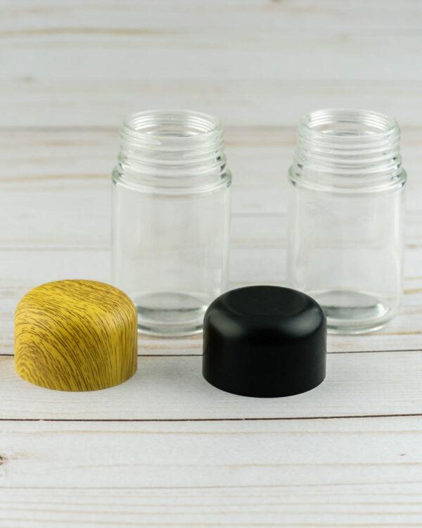 glass jars with lids