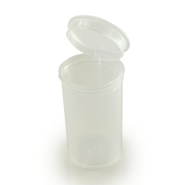clear 19 dram pop top