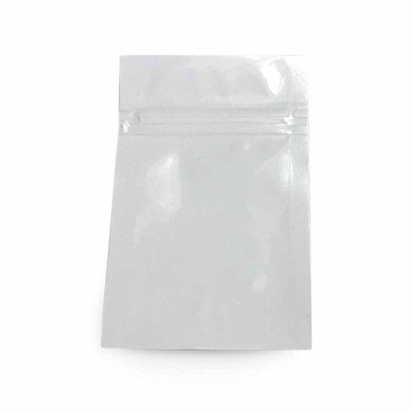 white mylar bag